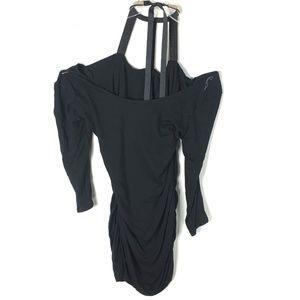 Venus Womens Halter Neck Party Mini Dress Bling
